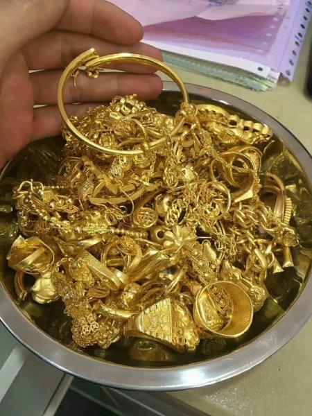 高价回收黄金,金条,首饰